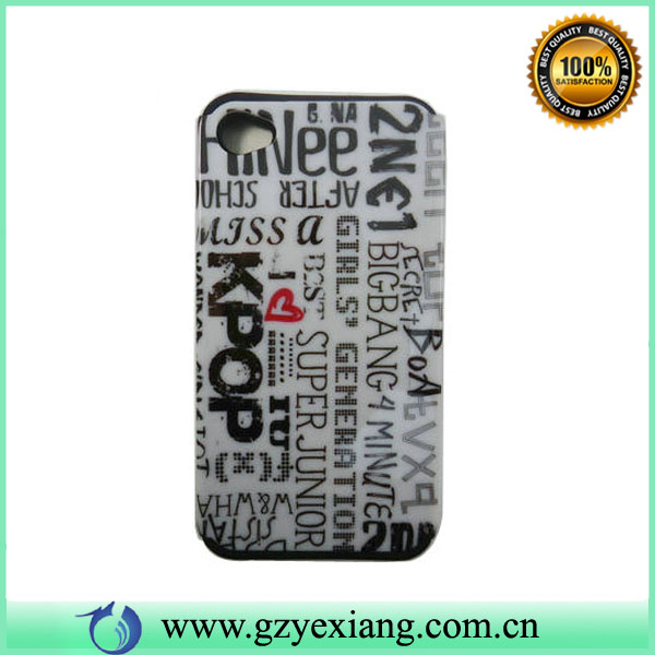 custom design phone case two parts hard case for iphone 4