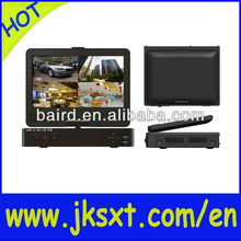 cctv system All-in-one standalone 10' LCD LCD DVR COMBO 4ch & free DDNS