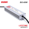 WODE High Quality Ip67 Waterproof 60W 12A 5V Led Driver 220V To 24V