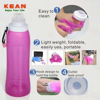 Portable Collapsible BPA Free Silicone Yogurt Drink Bottle