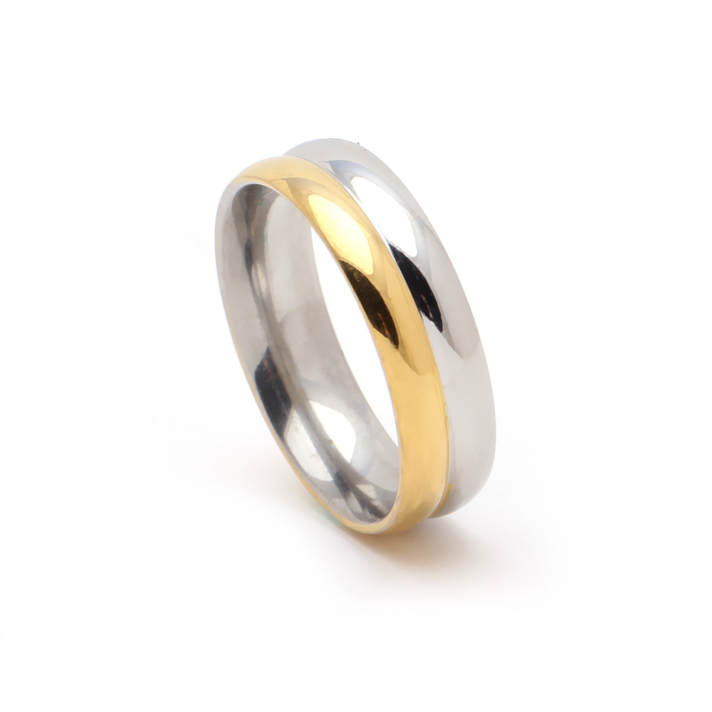 fashion gold silver color Hip-Hop jewelry party rings stainless steel ring