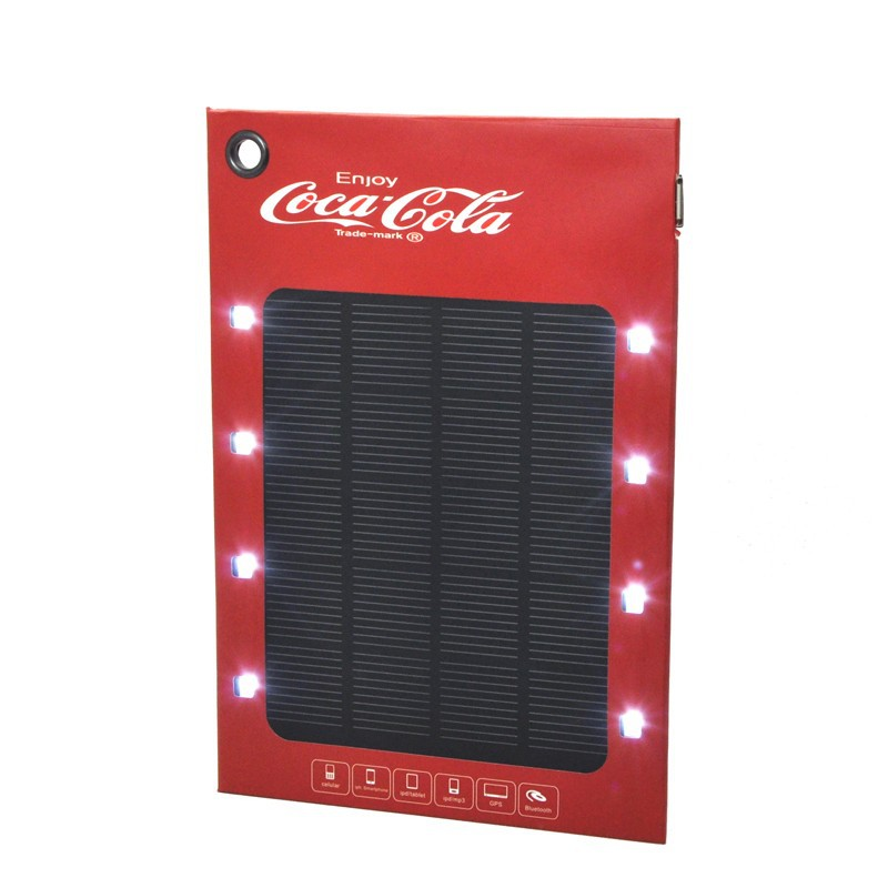 ROHS Solar Paper Charger with Led Light for Mobile