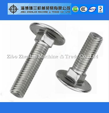 Standard size sus304/316/904 din 603 carriage bolts