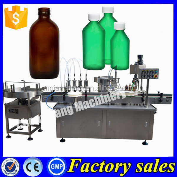 Shanghai custom-build bottle filler 4 heads,cough syrup filling and capping