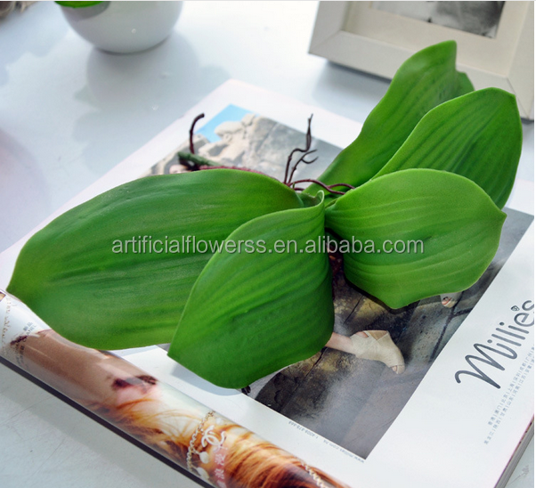 Wholesale high quality material MINI single Artificial orchid leaves for sale
