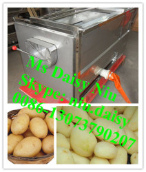 commercial tuber crop washing machine/beet root washer and peeler/cassava washing and peeling machine