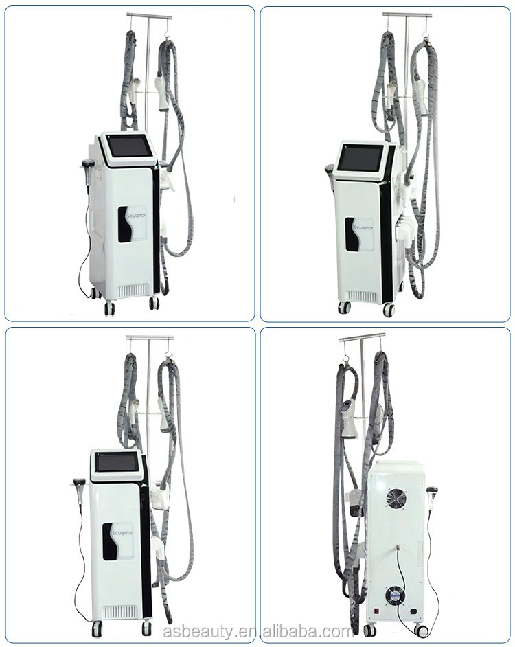 5 handles vertical body shaping cavitation rf vacuum roller massage slimming machine velashape 3
