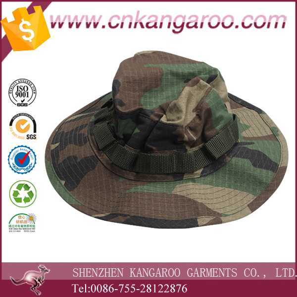 China Made Woodland Camouflage Military Bonnie Hat/sun hat