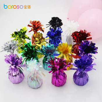 B621 Party Decoration Fantastic Shimmering Metallic Foil Balloon Weights