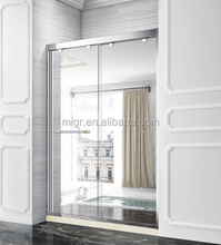 Popular Luxury 8mm tempered glass two panel sliding shower door adjust sliding shower bath enclosure