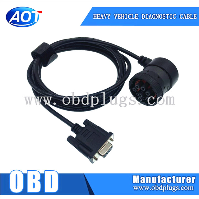 2015 Obd2 16 Pin to Db9 Serial Port Rs232 Adapter Cable for Car Diagnostic Scanner