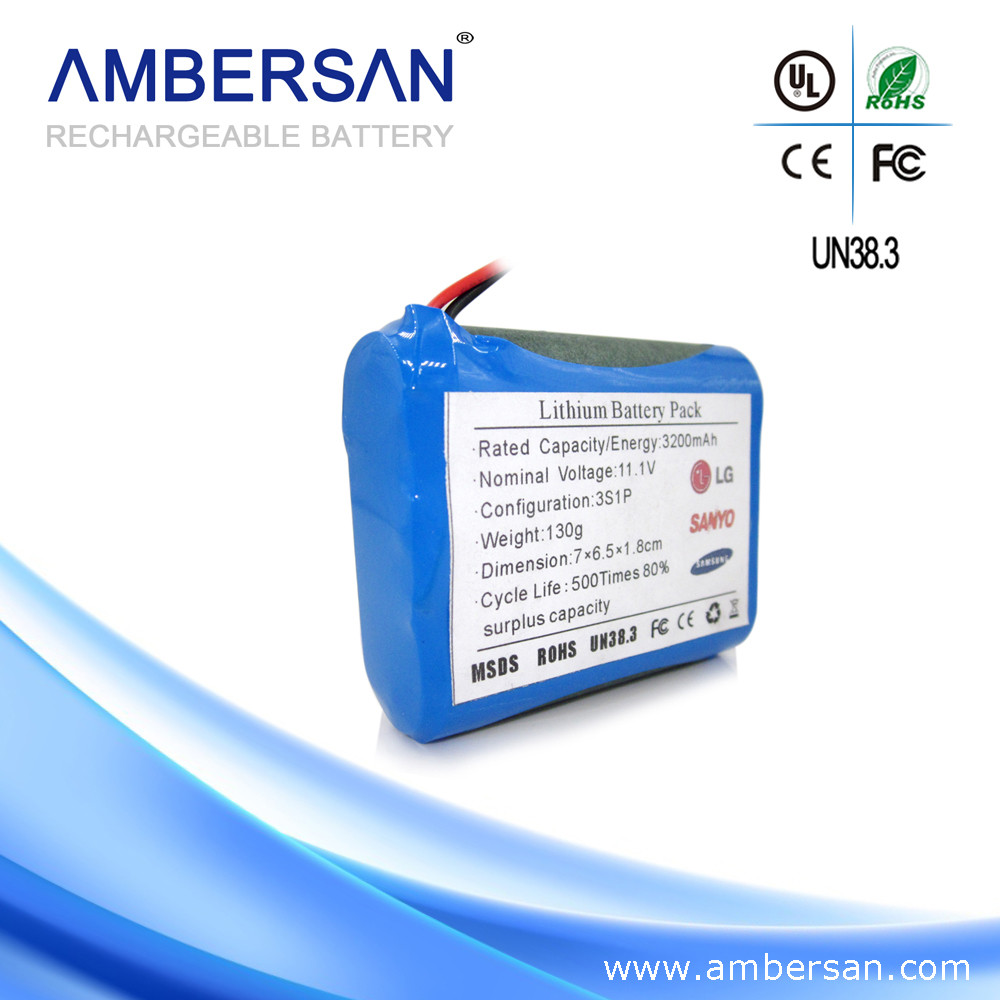 Cylindrical 18*65mm 2Ah lithium ion recharge battery / 18650 12v rechargeable battery