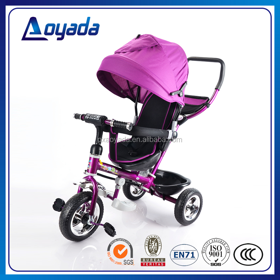 Factory wholesale high quality child tricycle / 3 wheel tricycle kids / 4 in 1 tricycle with canopy
