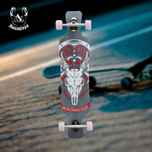 Factory price carbon fiber skateboard longboard with abec skateboard bearings