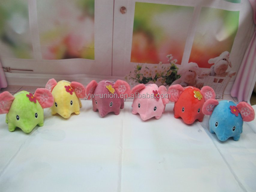 promotion cheap sale stuffed plush colorful elephant toy