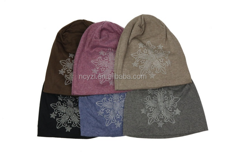 new style women winter knitting beanie pure cotton have pattern woman hat