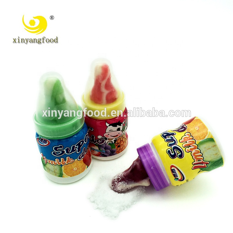 Nipple shape candy b hard candy sherbet candy with sour powder for wholesale