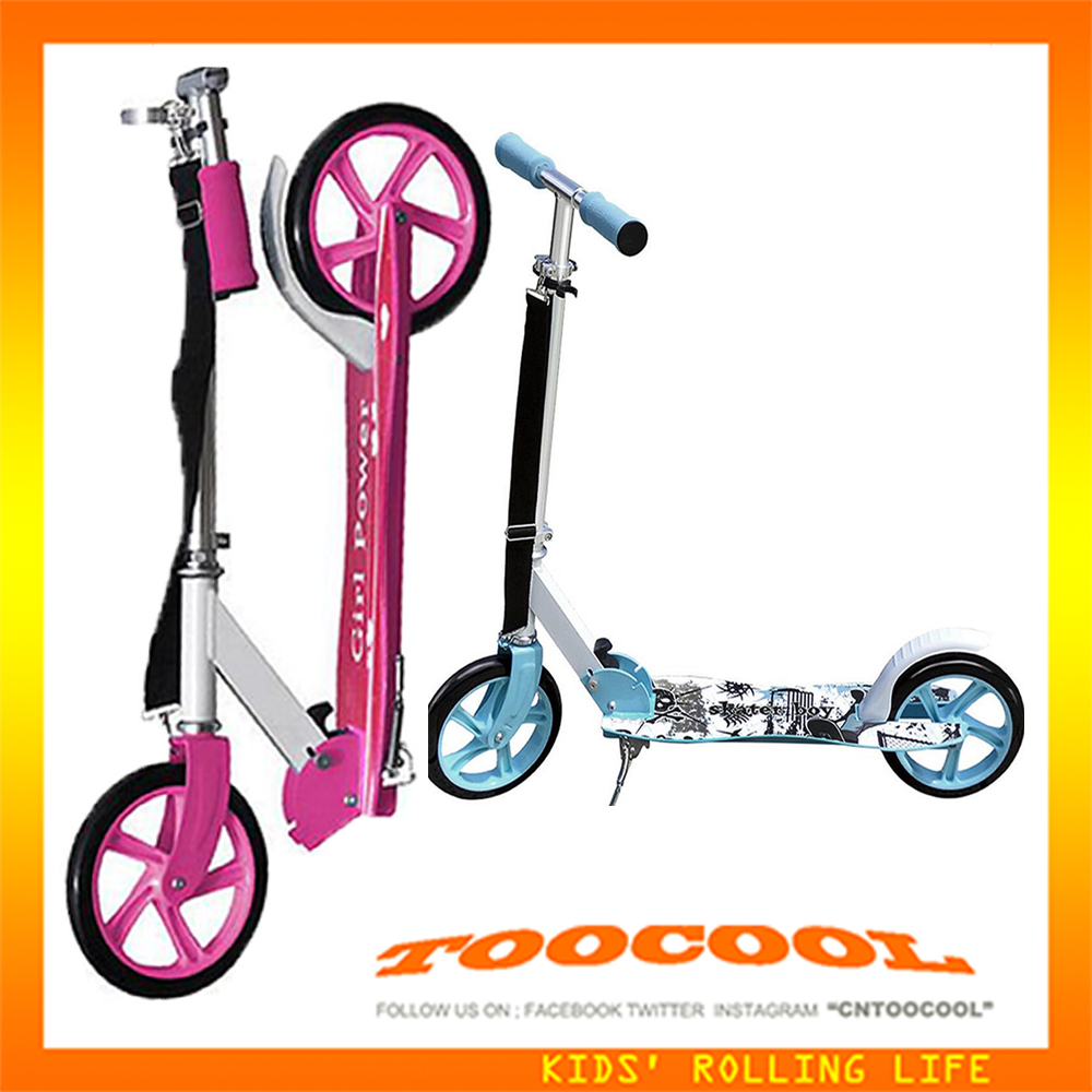 WG02 folding adult kick scooter with two big wheels