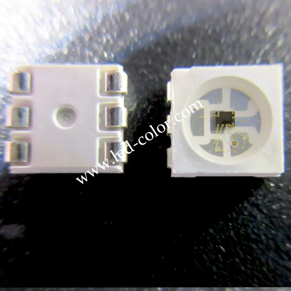 Top Smart 5050 addressable sk9822 smd rgb led CLK and DAT double signal fast speed as APA102