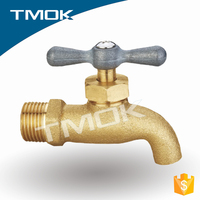 TOMK 1/2 inch 2way 3way valve / bibcock with forged and high quality polishing three way for water in tmok
