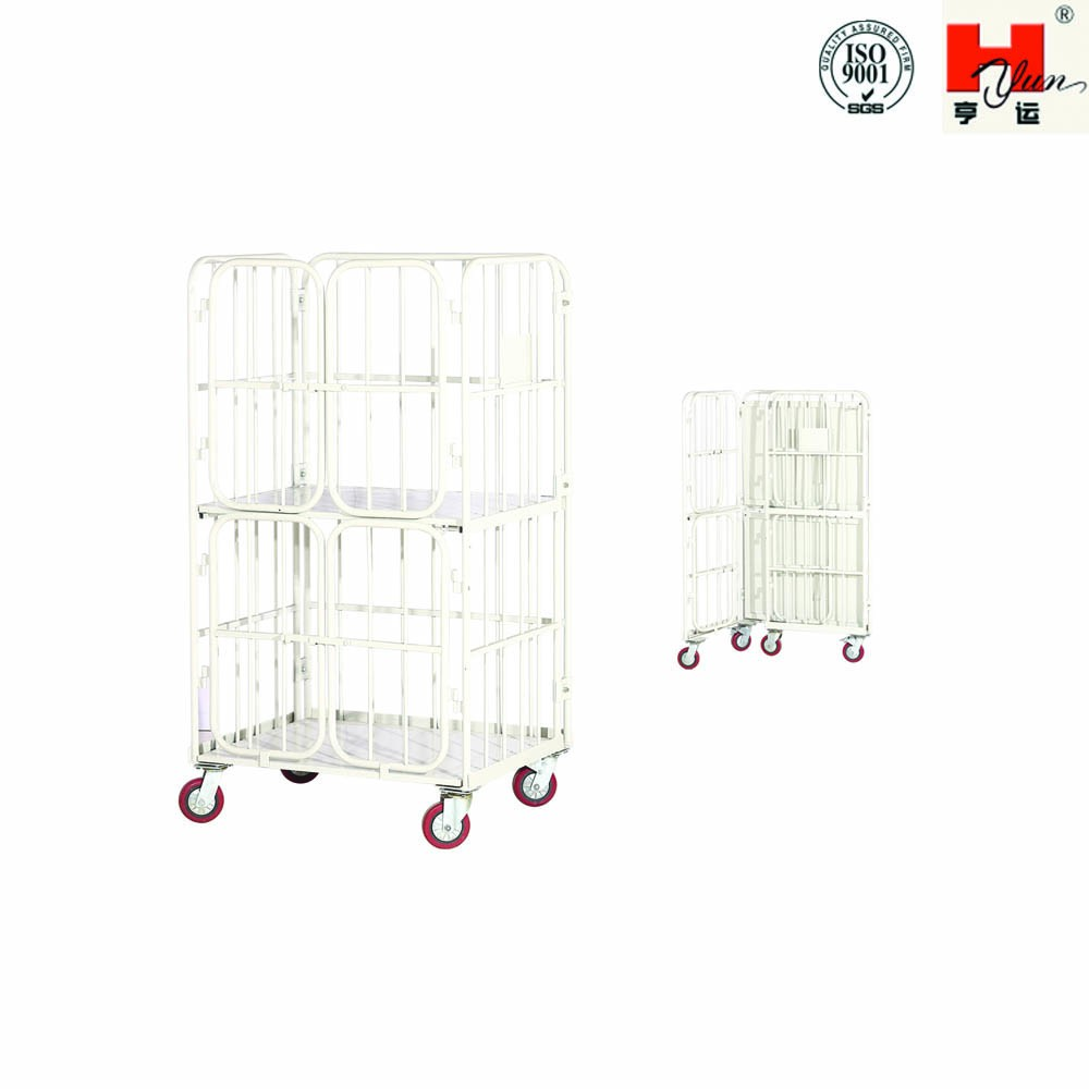 Hot Sales Industrial Double-layer Folding Wagon with Wheels