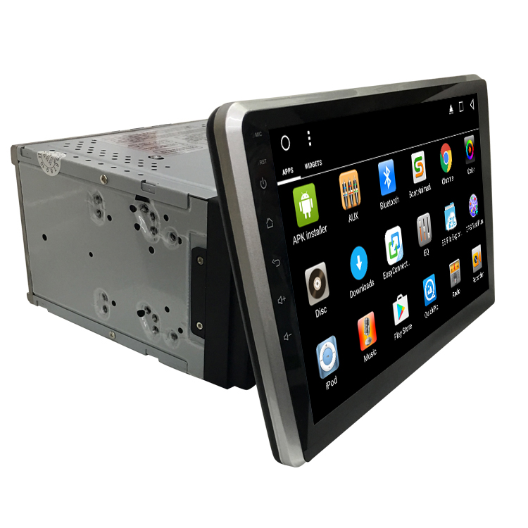 "10.1"" adjustable panel android universal car stereo with DVD disc player GPS bluetooth"