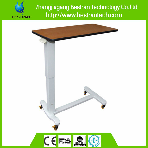 BT-AT004 Hospital Furniture Plastic Over Bed Table patient bed table hospital dining table