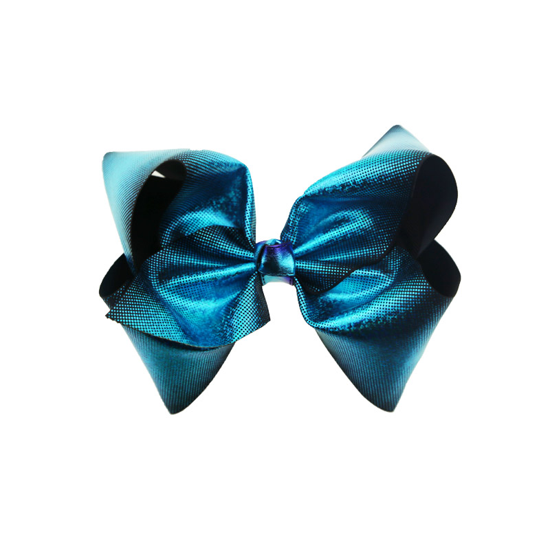 Maya new design high quality girls hair bow 8inch with 7.5cm alligator clip fashion hair bow clip