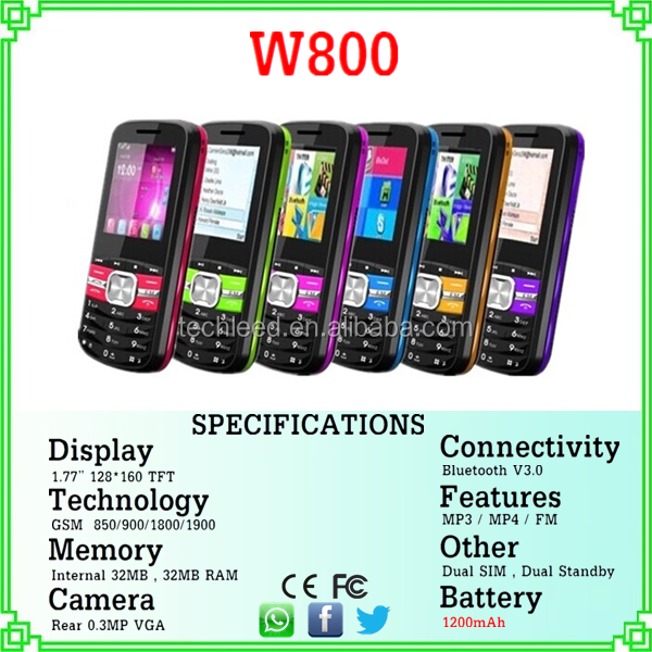 1.77'' screen whatsapp dual sim quad band original very cheap new products telefony W800