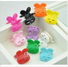 2012 candy color small hair claws for children rabbit shape