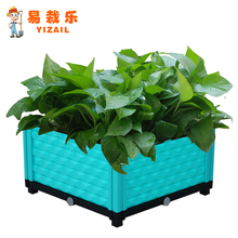 Hot Sale Small Decorative Flower Pots for Balcony plastic plant box modern style outdoor green plants
