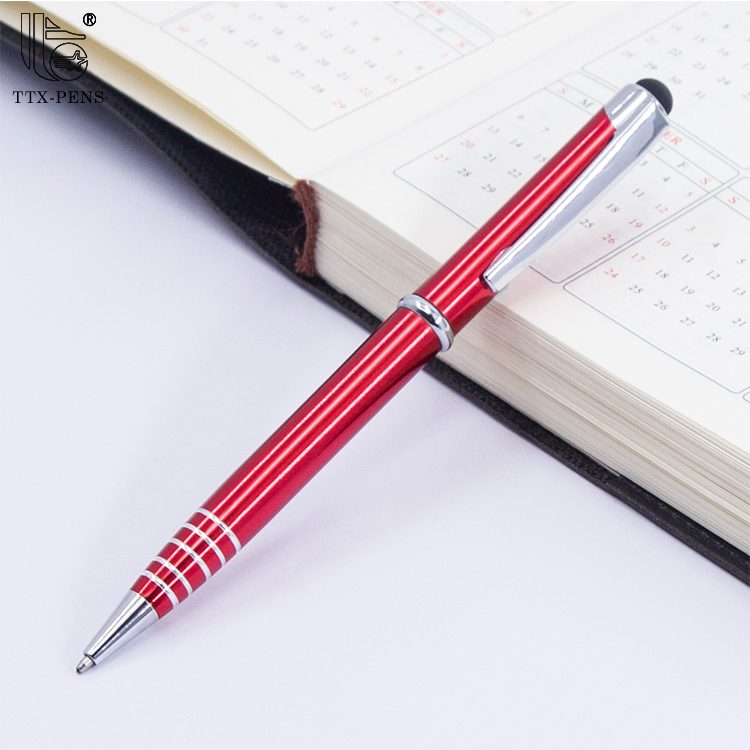 New stylus black thin metal pen for promotion