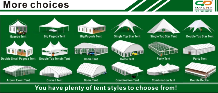 Largest Twin peaks star shaped Tents double tops 16x21m with aluminum poles