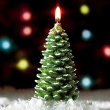 amazing magic unscented Christmas tree shape candles for sale