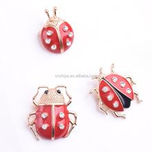 Ladybird/ladybug animals rhinestone/enamel brooch pin/clip,bridal wedding/ Muslim Hijab Scraf brooch 2016