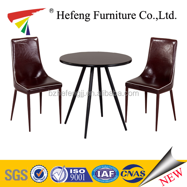 Dining room furniture MDF dining table with crimson PVC chair