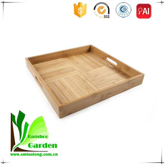 Hot Quality Multilevel Unique Natural Cheap Bamboo Tray