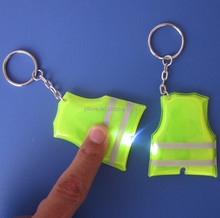 Promotion brand plastic mini reflective flash light keychain / key chain
