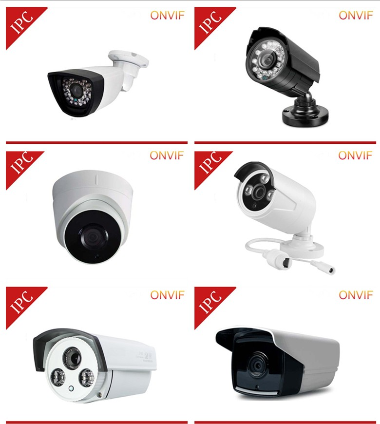 Onvif POE 1.0MP ip camera Full HD Security Cam outdoor OEM POE Home security cameras