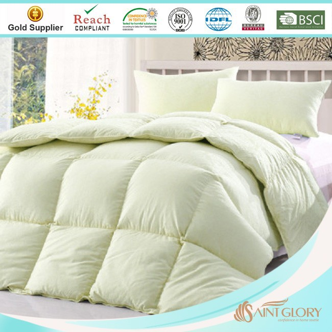 royal green color duck down twin comforter for twin size bed