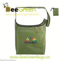 2014 Promotional 190T/210D Polyester Foldable recycle shopping trolley bag