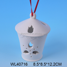 Outdoor christmas decoration,white porcelain christmas hanging for festival party