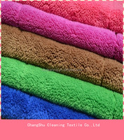 China manufacturer 80% Polyester 20% polyamide Coral Fleece Cleaning Cloth Microfiber fabric in roll