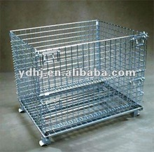 Heavy duty warehouse storage pallet cage/Metal Storage Cage/High Quality Storage Cage With Wheels
