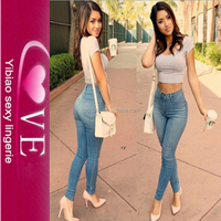 New Arrival Nylon Long Hot Sexy Teacher Jeans Girl Tight Pants Jeans Women