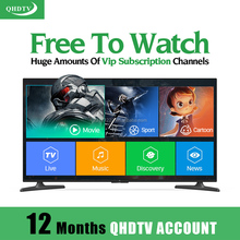 1Year QHDTV Iptv Account Sopport English French Russian German Chinese with VOD HD Movies For Smart Phone