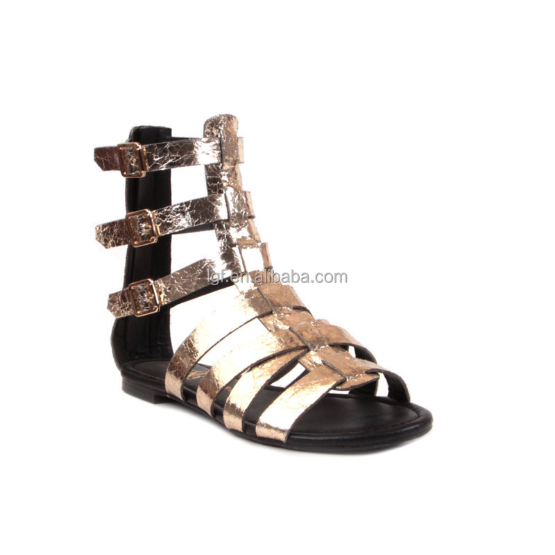 hot selling 2016 Summer Women's Studded Rhinestone Cut Out Dress Flat Thong Sandals