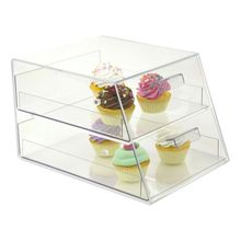 Two drawer clear acrylic cupcake display cabinet pastry display case acrylic donut display case