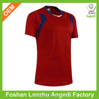 100% polyester dry fit soccer jersey plain jersey for men