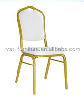 fashion white pvc leather chair used for restaurant
